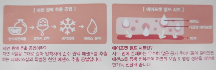 The Face Shop: explanations about the mask and the use of pomegranate in it